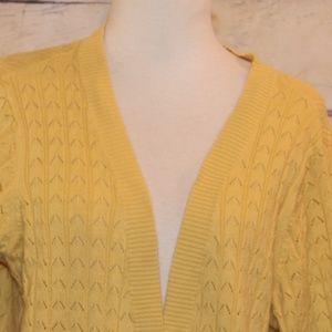 Lane Bryant Size 18/20W Yellow Cardigan Sweater